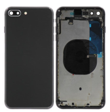 Корпус (задняя крышка, рамка, сим-лоток) для Apple iPhone 8 Plus, цвет: черный