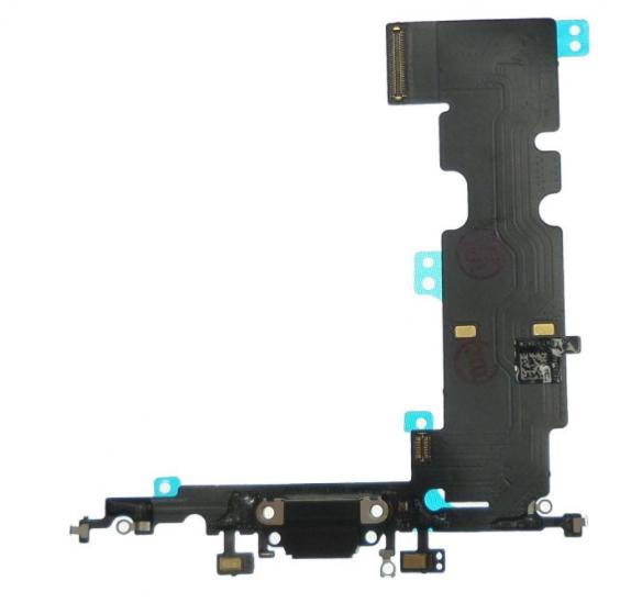 Шлейф разъема зарядки для Apple iPhone 8 Plus (Charge Conn), цвет: черный
