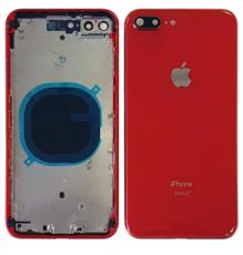 Корпус (задняя крышка, рамка, сим-лоток) для Apple iPhone 8 Plus, цвет: красный