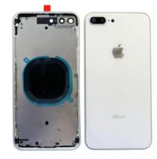 Корпус (задняя крышка, рамка, сим-лоток) для Apple iPhone 8 Plus, цвет: серебристый