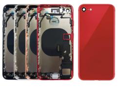 Корпус (задняя крышка, рамка, сим-лоток) для Apple iPhone 8, цвет: красный