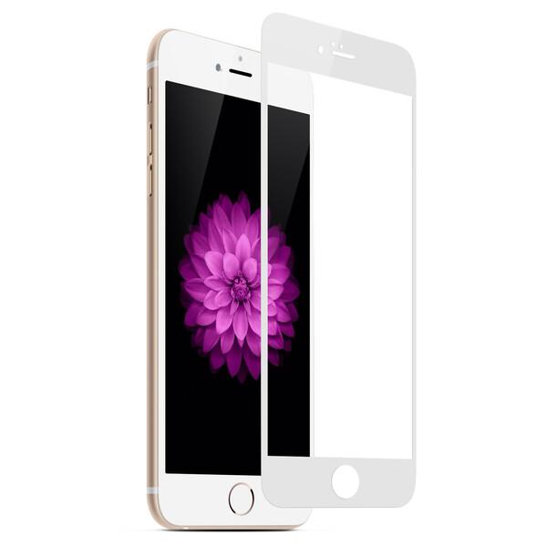 Защитное стекло для Apple iPhone 6, 5D (полная проклейка), цвет: белый