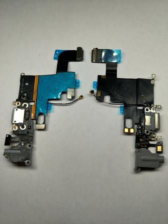 Шлейф разъема зарядки для Apple iPhone 6 (Charge Conn), цвет: серый