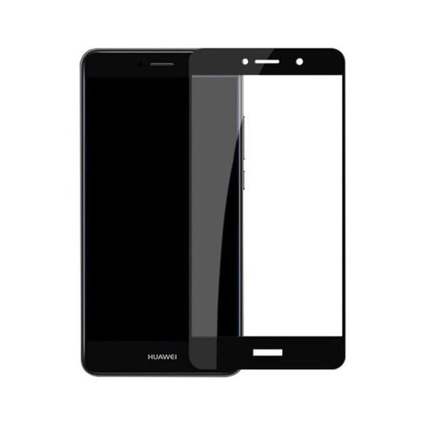 Защитное стекло для Huawei GR5 2017 5D (полная проклейка), цвет: черный