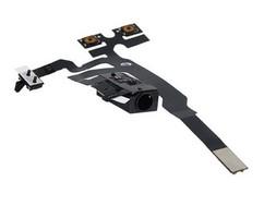 Шлейф кнопок громкости, вибрации и разъема наушников Audio Jack для Apple iPhone 4s, цвет: черный