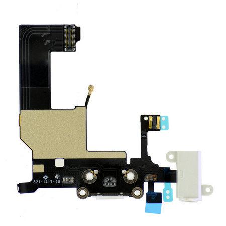 Шлейф разъема зарядки для Apple iPhone 5 (Charge Conn), цвет: белый