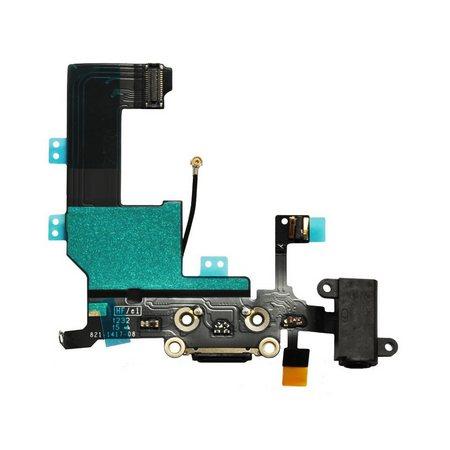 Шлейф разъема зарядки для Apple iPhone 5 (Charge Conn), цвет: черный