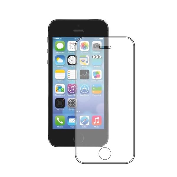 Защитное стекло для Apple iPhone 5, цвет: прозрачный