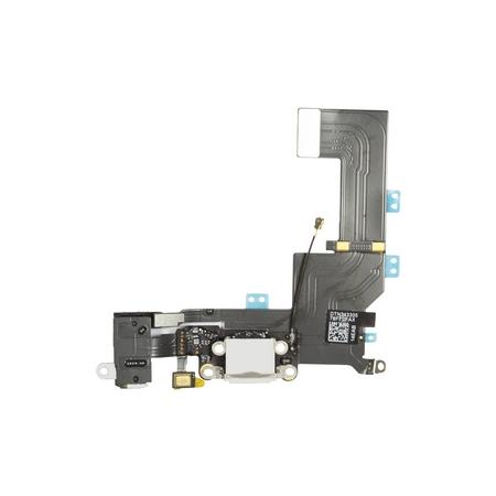 Шлейф разъема зарядки для Apple iPhone 5C (Charge Conn), цвет: белый