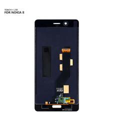 Экран для Nokia 8 с тачскрином, цвет: черный
