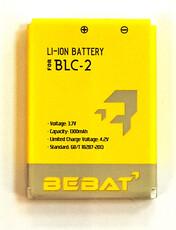 Аккумулятор Bebat для Nokia 3310, 3320, 3330, 3350, 3360, 3390, 3410, 3500, 3530, 3610, 5510, 6650, 6800, 6810 (BLC-2, BLC-1)