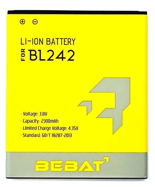 Аккумулятор Bebat для Lenovo A6000 (A6000 Plus, A3900, A6010, A3690, A6010 Pro, A3860, K31-T3, K3 Lemon K30T (BL242)