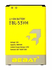 Аккумулятор Bebat для LG G3 D855 (D851, D690, D856, D830) (BL-53YH)