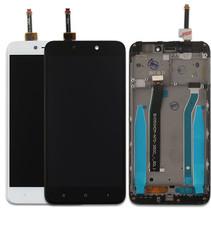 Экран для Xiaomi Redmi 4X с тачскрином, цвет: белый (в рамке)