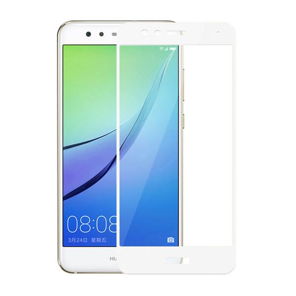 Защитное стекло для Huawei P10 lite 5D (полная проклейка) цвет: белый