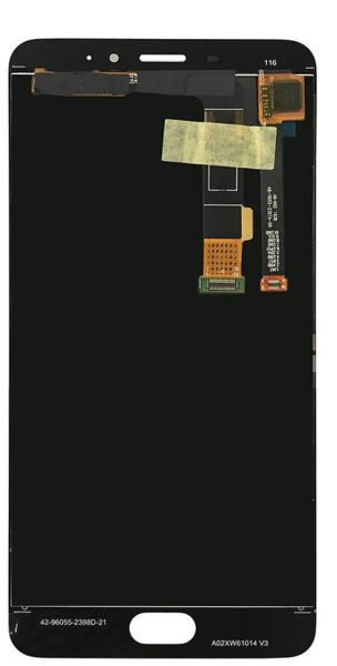 Экран для Meizu M3e, E с тачскрином, цвет: черный