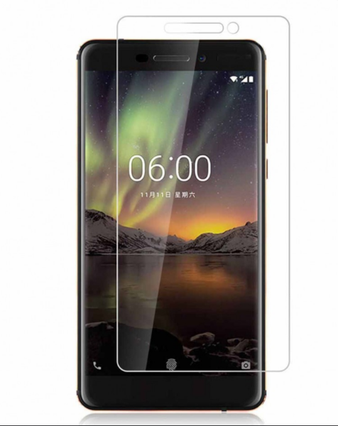 Защитное стекло для Nokia 6.1 2018 цвет: прозрачный