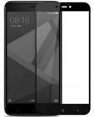 Защитное стекло для Xiaomi Redmi 4A 5D (полная проклейка), цвет: черный
