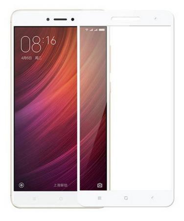 Защитное стекло для Xiaomi Redmi 4X 5D (полная проклейка), цвет: белый