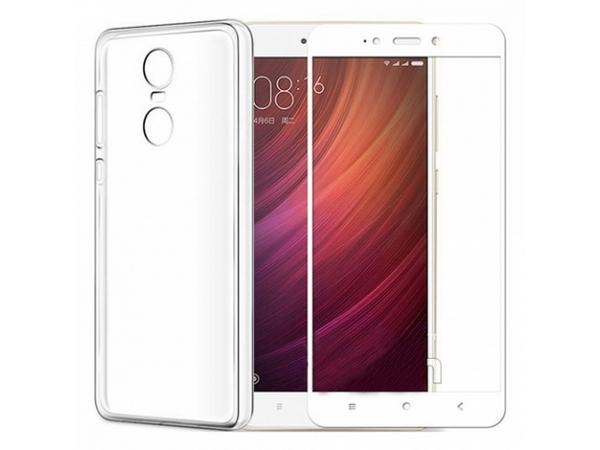 Защитное стекло для Xiaomi Redmi 5 Plus, 5D (полная проклейка) цвет: белый