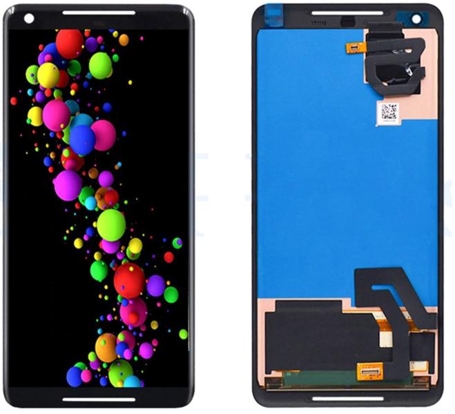 Экран для Google Pixel 2XL с тачскрином, цвет: черный оригинальный