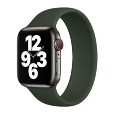 Силиконовый монобраслет для Apple Watch 5 44mm, цвет: сосновый лес (размер: M)