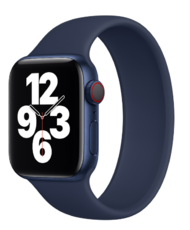 Силиконовый монобраслет для Apple Watch 5 44mm, цвет: синий (размер: M)