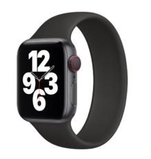 Силиконовый монобраслет для Apple Watch 5 44mm, цвет: черный (размер: M)