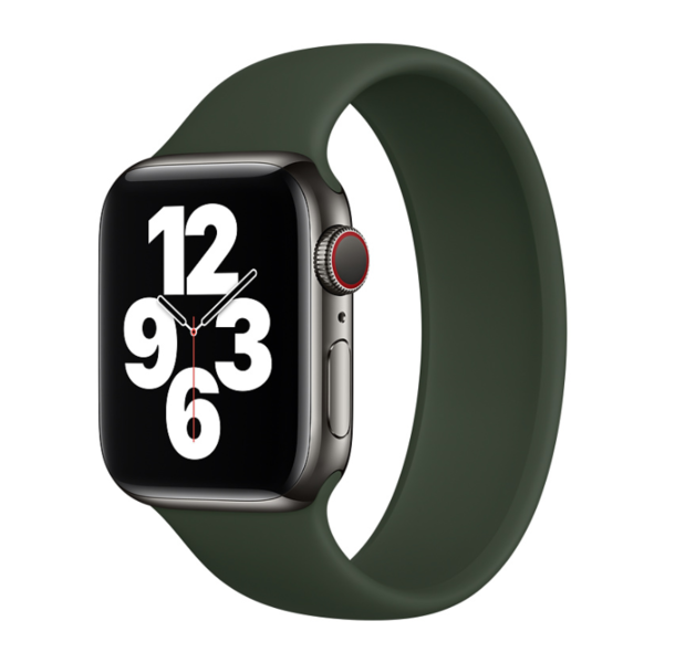 Силиконовый монобраслет для Apple Watch 5 44mm, цвет: сосновый лес (размер: S)
