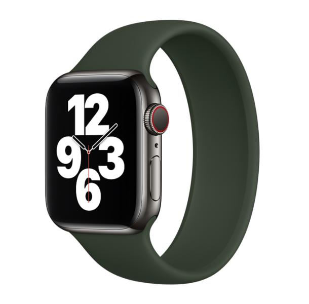 Силиконовый монобраслет для Apple Watch 4 44mm, цвет: сосновый лес (размер: L)