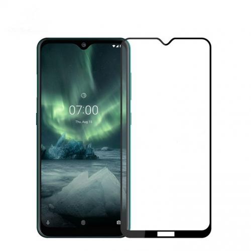 Защитное стекло для Nokia 7.2 5D (полная проклейка), цвет: черный