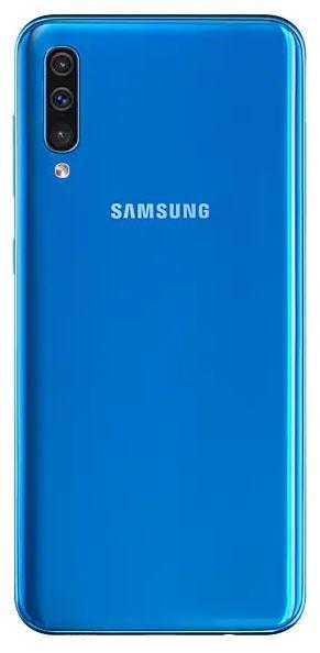 Задняя крышка (корпус) для Samsung Galaxy A50 (SM-A505), цвет: синий