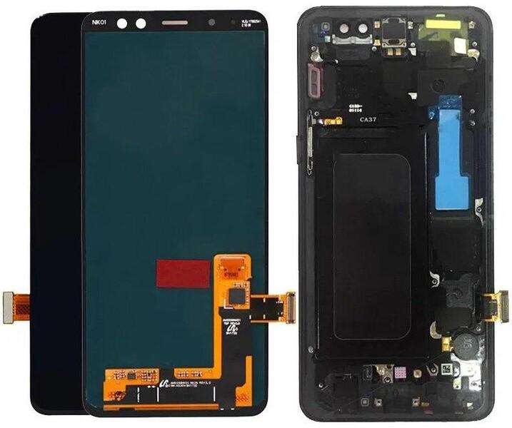 Экран для Samsung Galaxy A8 (A530F) с тачскрином и рамкой, цвет: черный, оригинальный
