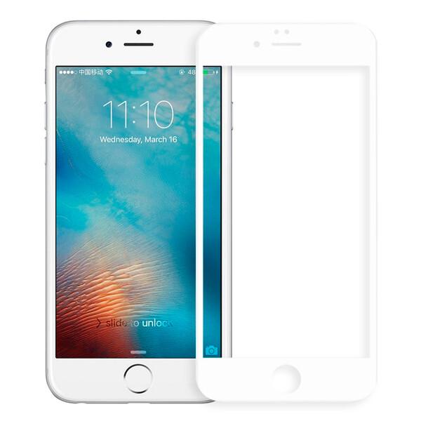 Защитное стекло для Apple iPhone 6s Plus 5D (полная проклейка), цвет: белый