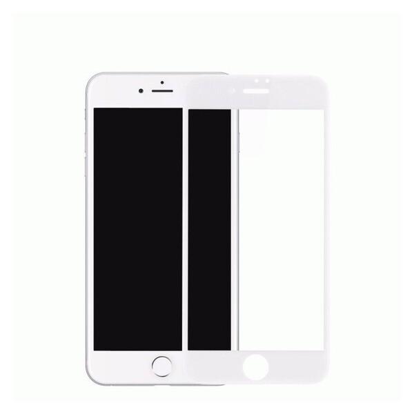 Защитное стекло Apple iPhone 8 Plus 5D (полная проклейка), цвет: белый