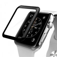 Защитное стекло для Apple Watch Series 4 38мм 3D, цвет: черный