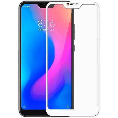 Защитное стекло для Xiaomi Mi A2 Lite, 5D (полная проклейка), цвет: белый
