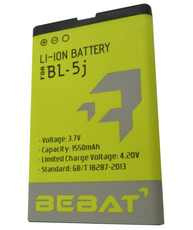 Аккумулятор Bebat для Nokia Nokia 5800, XpressMusic, X6 XpressMusic, 5228, 5230, 5233, 5235, Asha 200/Asha 201/Asha 302, Lumia 520, N900, X1-00 (BL-5J)