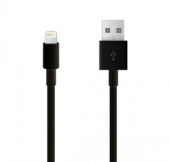 Кабель USB - Lightning для Apple iPhone, iPad Longlife 1м, цвет: черный
