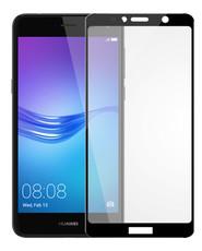 Защитное стекло для Huawei Y6 2018 5D (полная проклейка) цвет: черный