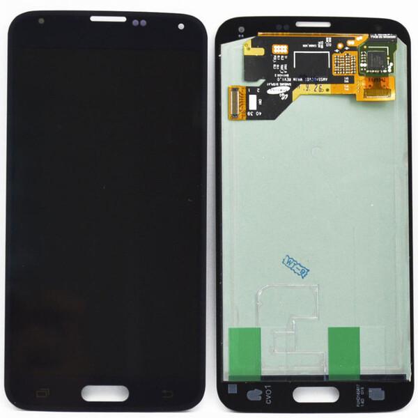 Экран для Samsung Galaxy S5 (g900f) с тачскрином, цвет: черный, оригинальный