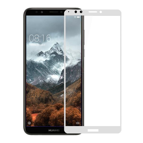 Защитное стекло для Huawei Y7 Prime 5D (полная проклейка) цвет: белый