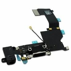 Шлейф разъема зарядки и разъема наушников Audio Jack для Apple iPhone 5S (Charge Conn), цвет: черный