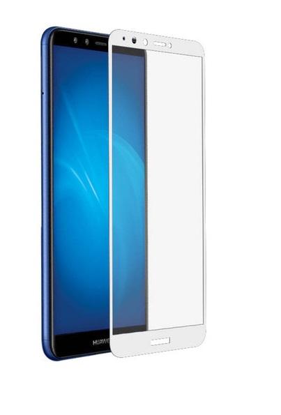 Защитное стекло для Huawei Y9 Prime 5D (полная проклейка), цвет: белый