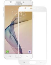 Защитное стекло для Samsung Galaxy J5 Prime G570 3D (проклейка по контуру), цвет: белый