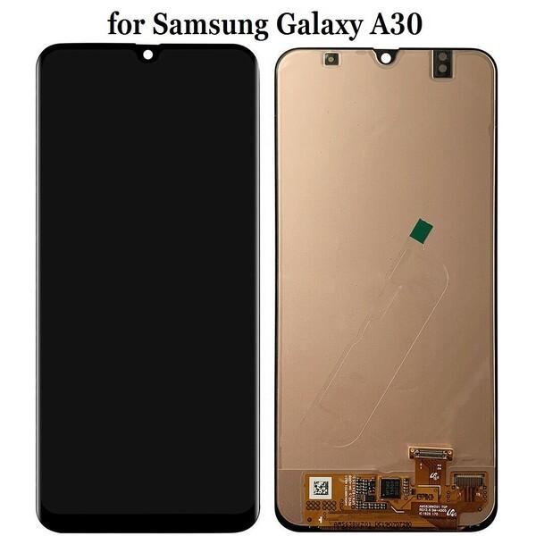 Экран для Samsung Galaxy A30 (SM-A305) OLED с тачскрином, цвет: черный