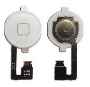 Шлейф кнопки Home (с кнопкой) для Apple iPhone 4, цвет: белый