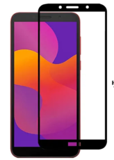 Защитное стекло для Huawei Honor 9S 5D (полная проклейка), цвет: черный