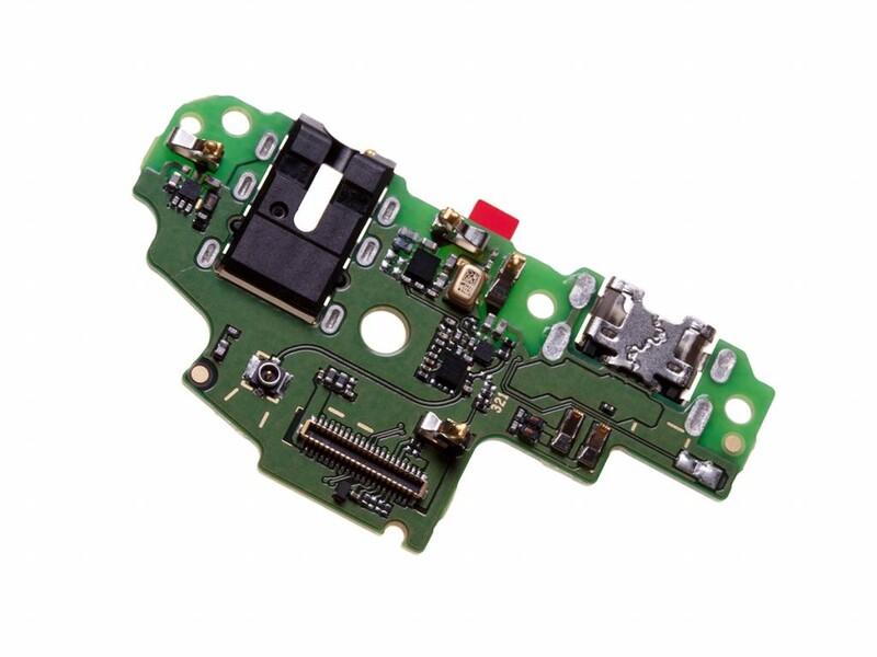 Нижняя плата для Huawei P Smart (FIG-LX1), Enjoy 7S c разъемом зарядки, гарнитуры (наушников)
