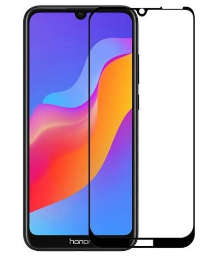 Защитное стекло для Huawei Honor 8A (JAT-LX1) 5D (полная проклейка), цвет: черный